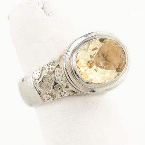 Jewelry - Artisan Crafted Citrine Sterling Ring